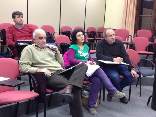 Els representants del Cercle, Crida, l´Assemblea de Docents i la COAPA. També hi va assistir un representant de MenorcaEdu21